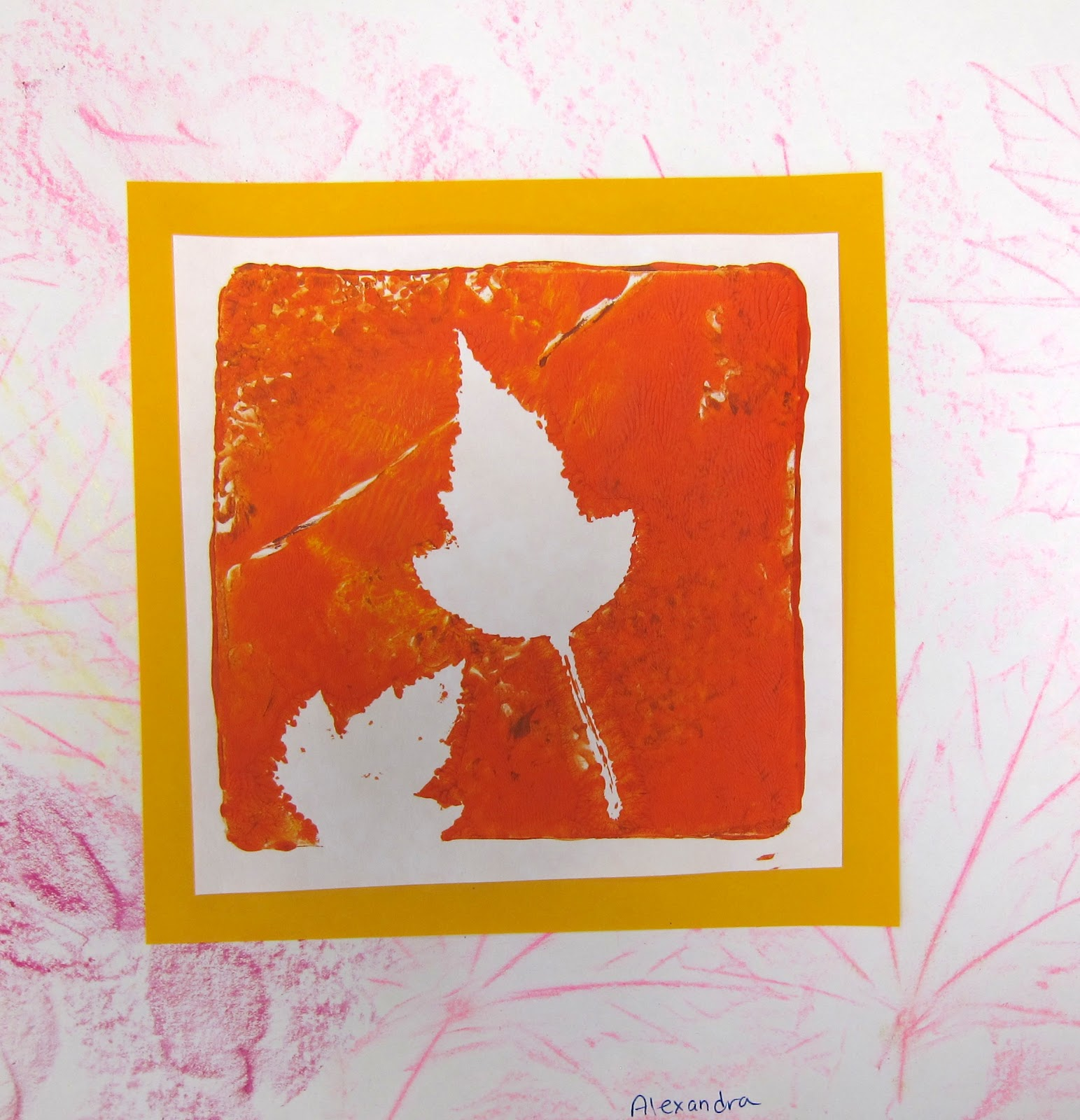 The Smartteacher Resource Leaf Printmaking With Gelli Plates