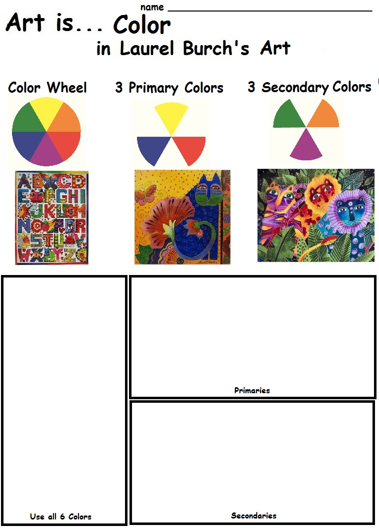 worksheet Color Theory Worksheets the smartteacher resource art is color in laurel burchs created on july 16 2014 by hope200