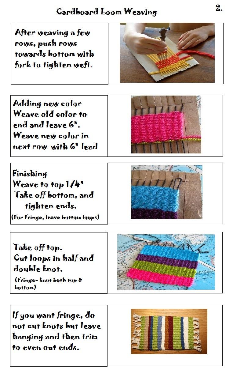 the smartteacher resource cardboard loom weaving