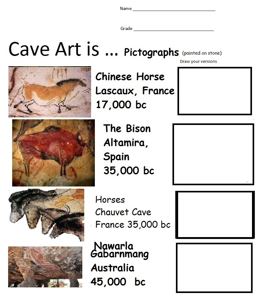 Worksheet Art Worksheets For Elementary the smartteacher resource cave art is rock pictographs it accompanies which shows carvedchiseled images on stone petroglyphs student worksheets show e