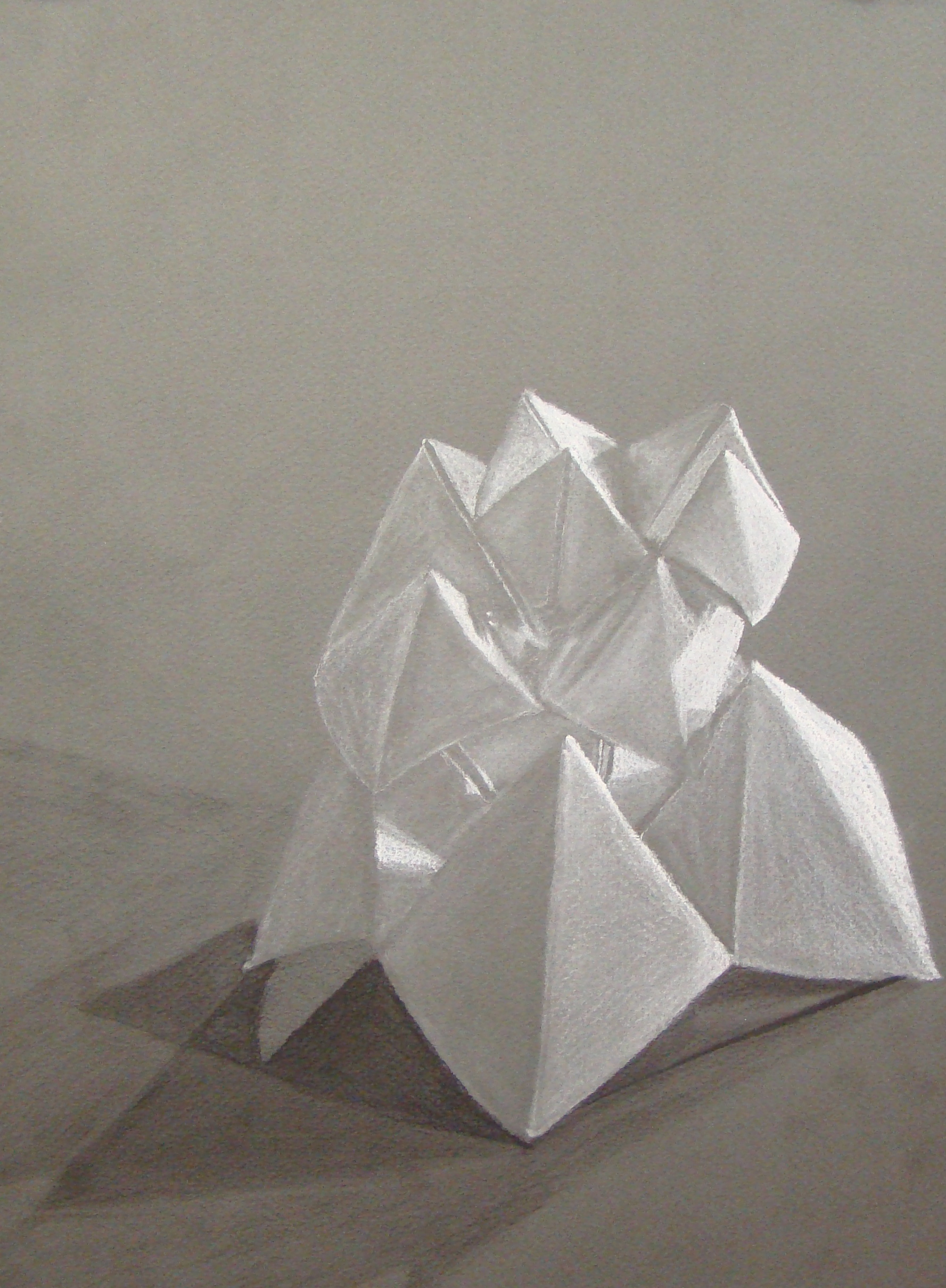The Smartteacher Resource  Charcoal Origami Drawing