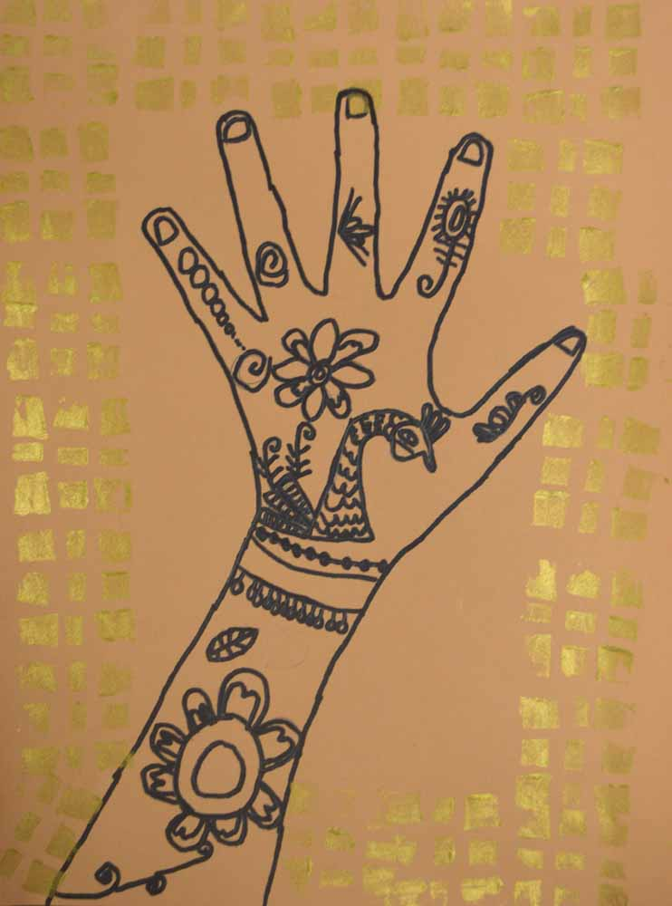 Mehndi Hands Art Lesson : The smartteacher resource mehndi hands choose your own