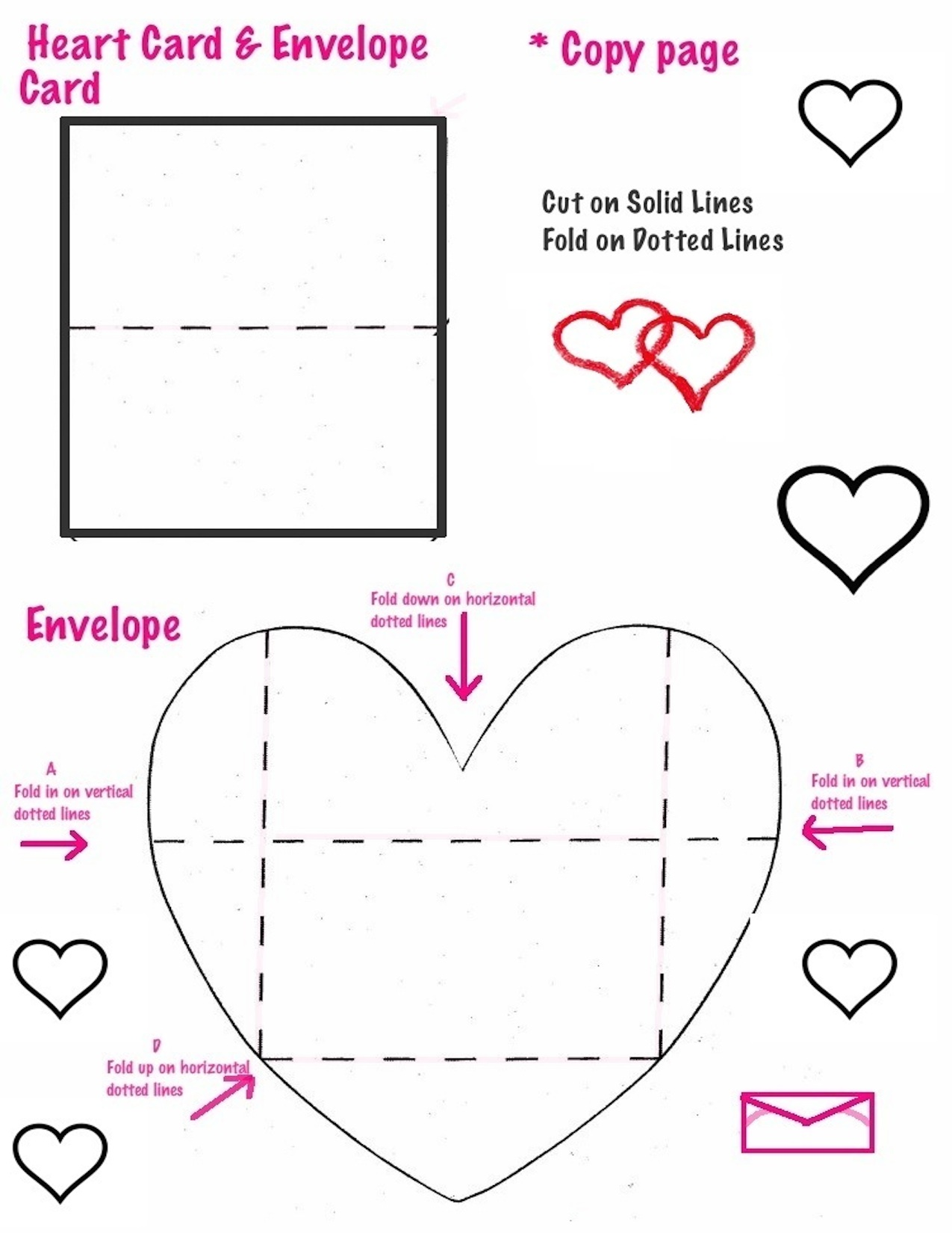 the smartteacher resource heart cards and envelopes