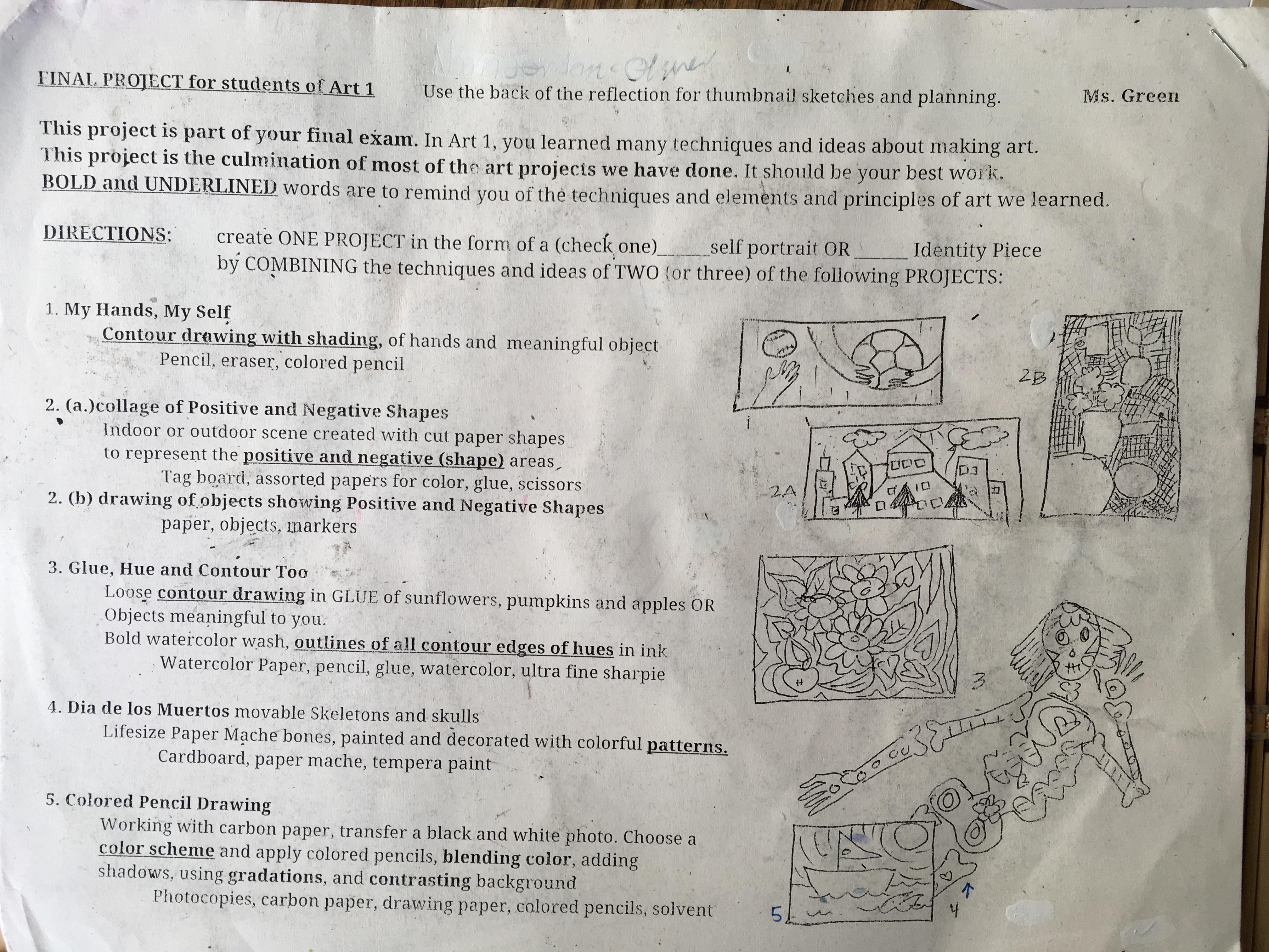 The smARTteacher Resource: Final Exam Art Project