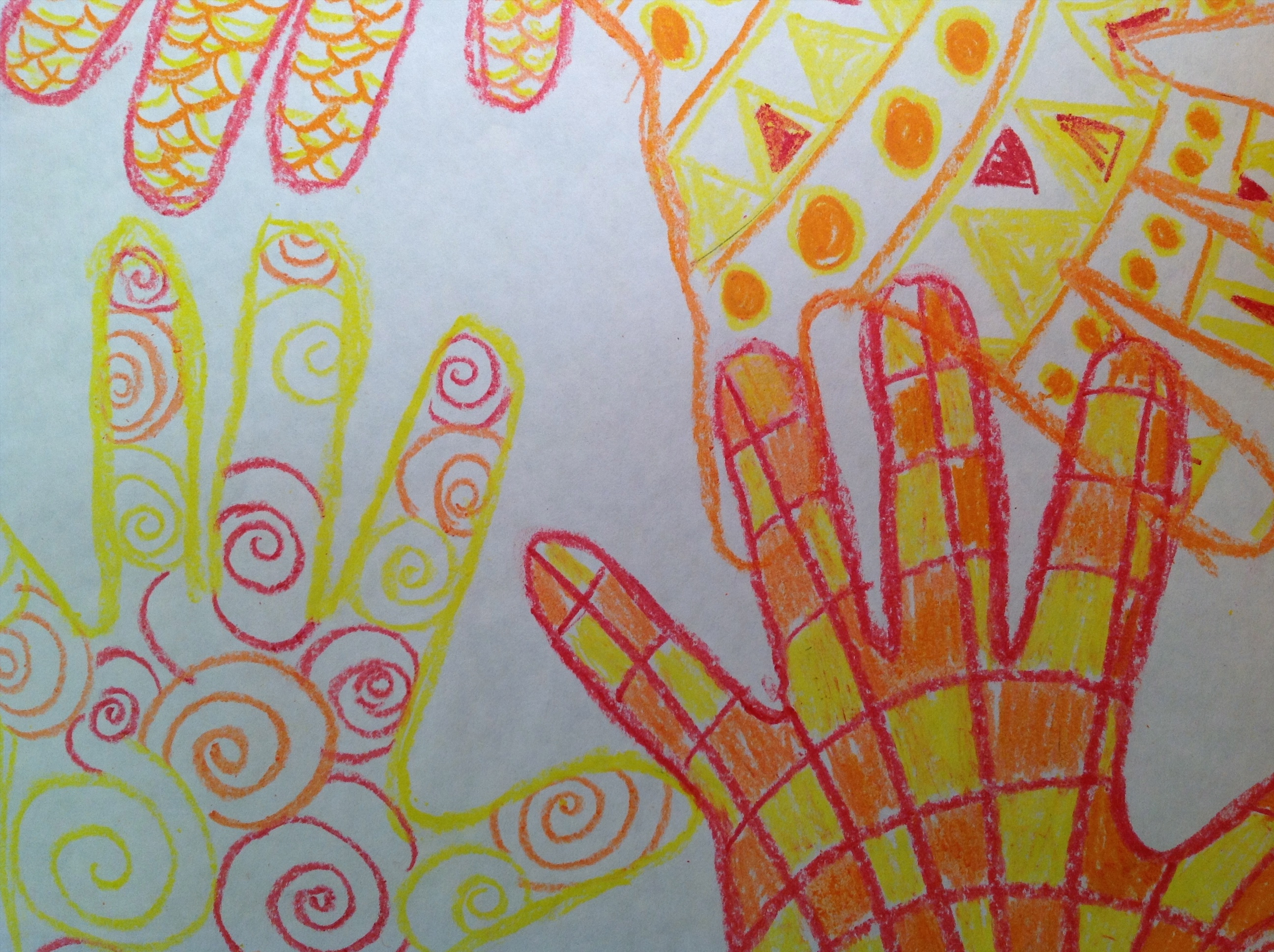 The smARTteacher Resource: Warm/Cool Color Handprint Pattern ...