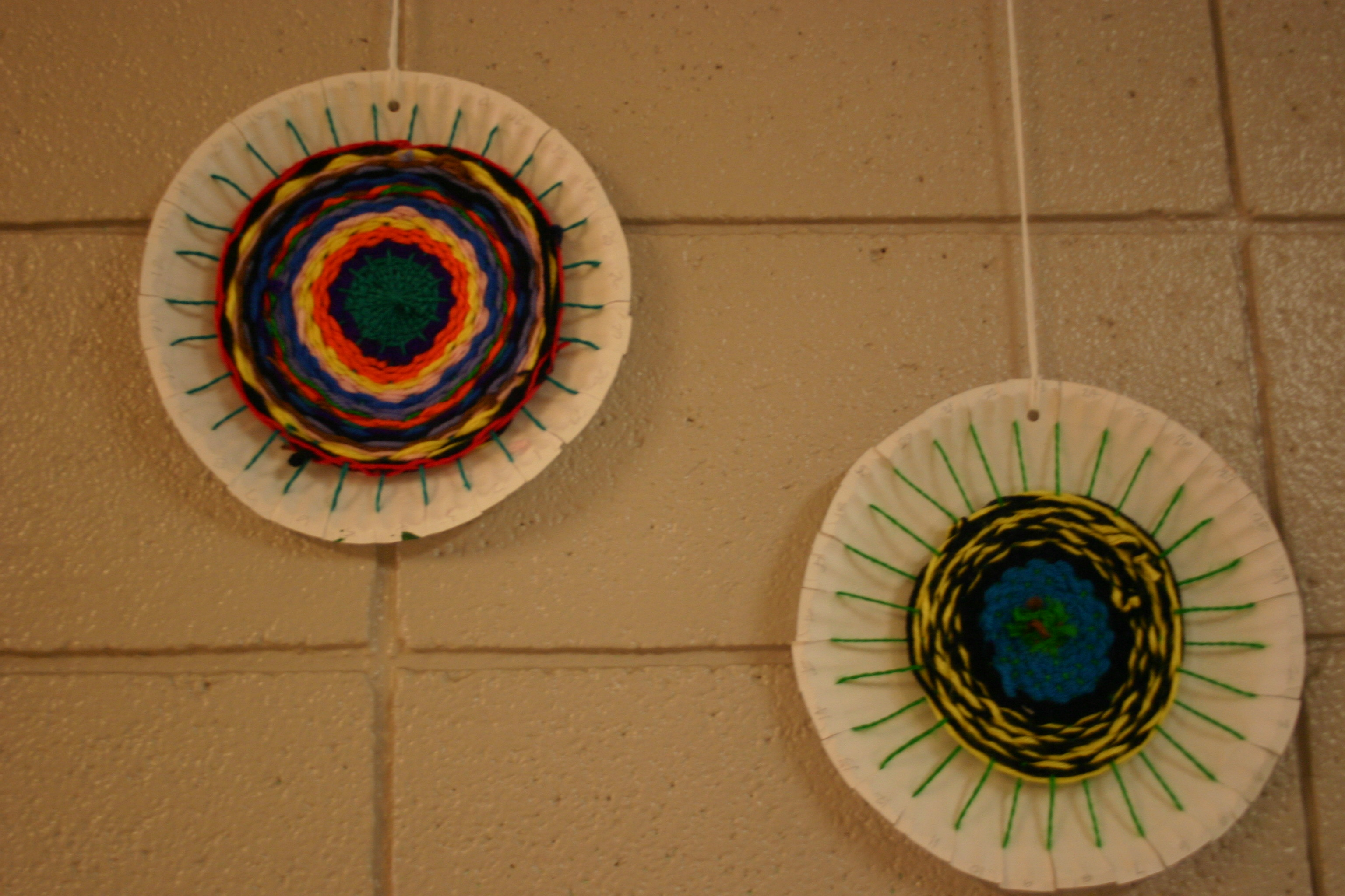 This is a simple paper plate weaving I did with 4th grade last year. It could easily be done with older students as well. The kids really loved it (you ... & The smARTteacher Resource: Circular Weaving: Radial Balance