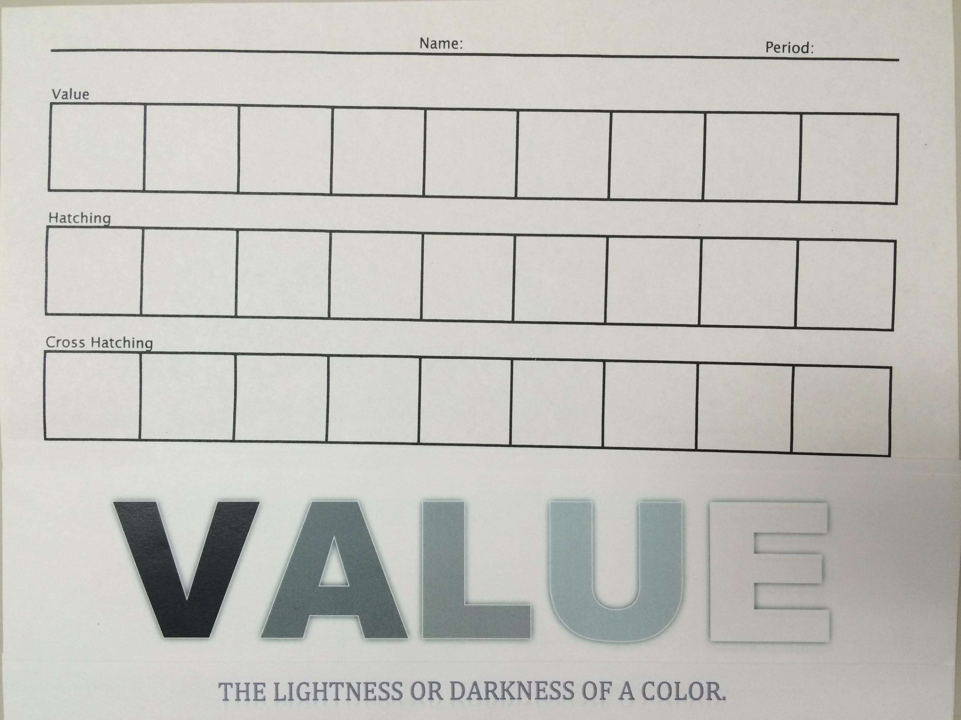 Worksheets Value Scale Worksheet the smartteacher resource value worksheet