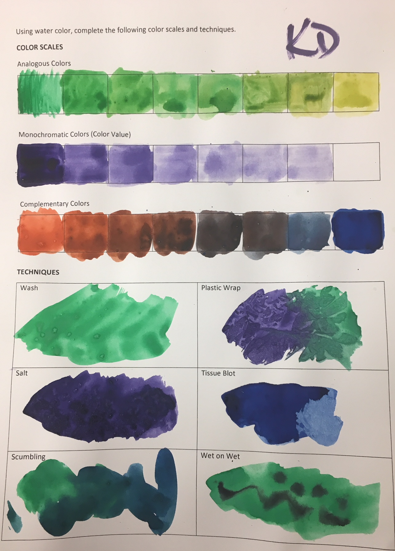 The smARTteacher Resource: Watercolor Color Scales and