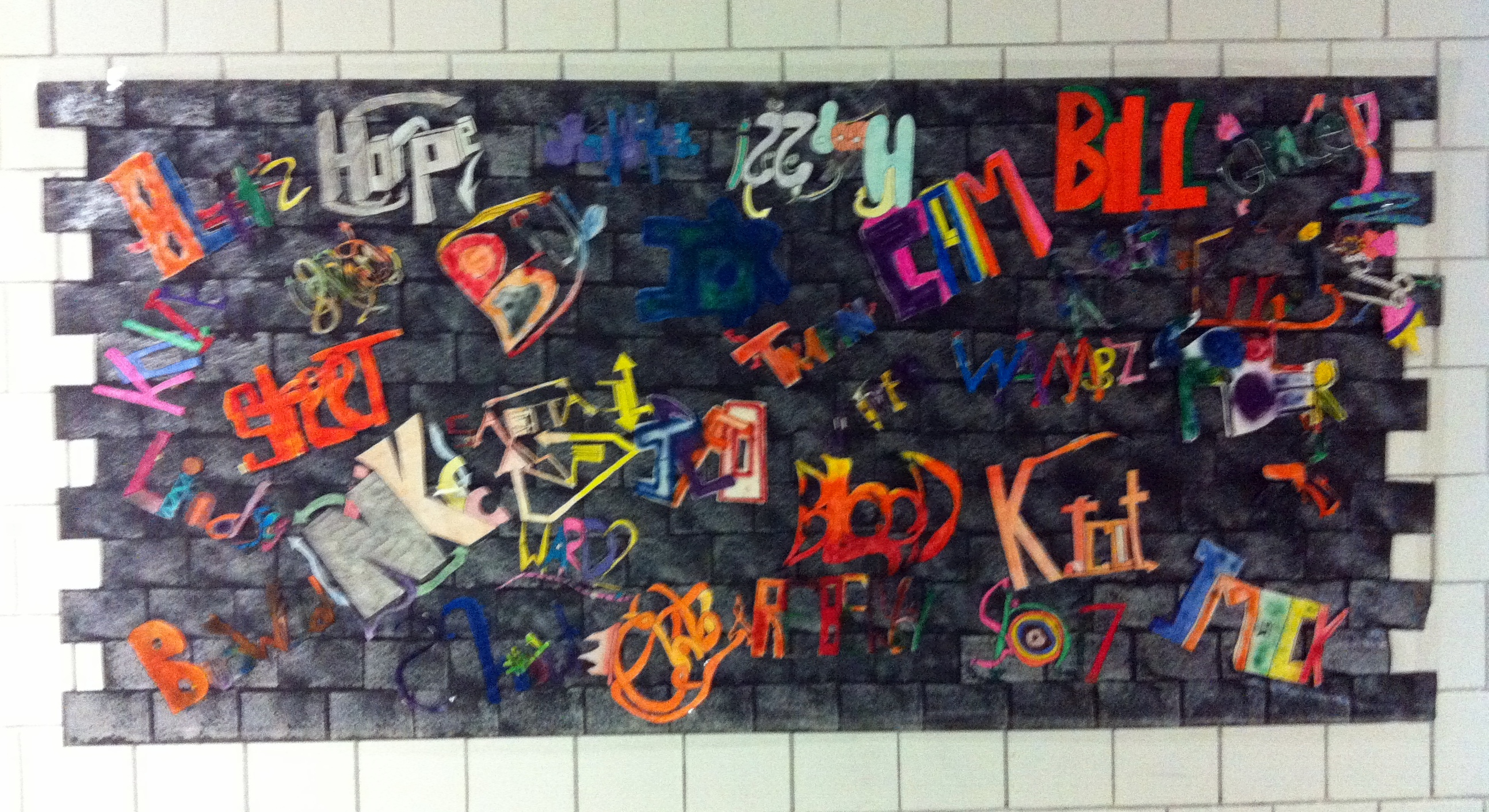 In this unit students learn about legal vs illegal graffiti art and design a tag