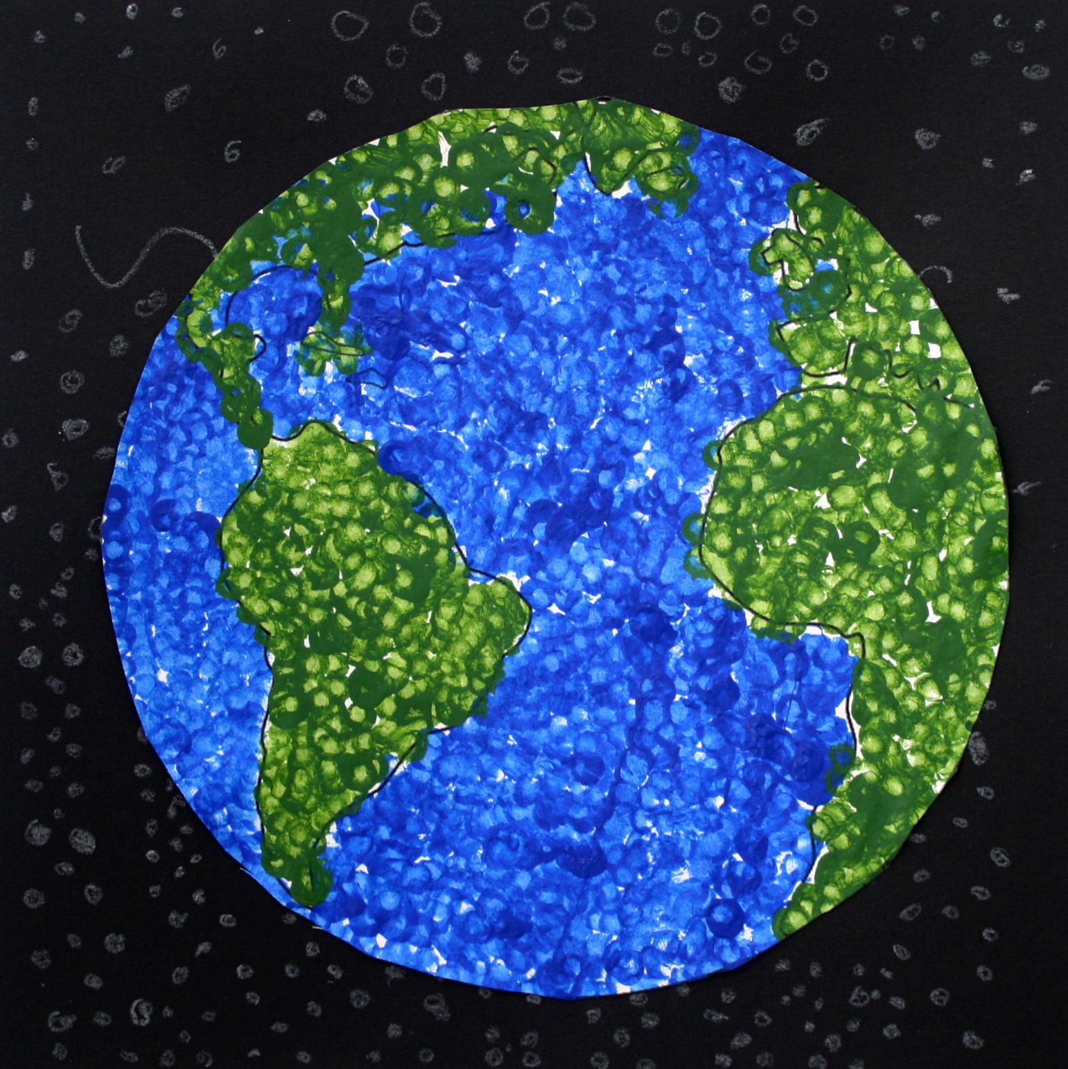 The SmARTteacher Resource: Earth Day Dot Painting