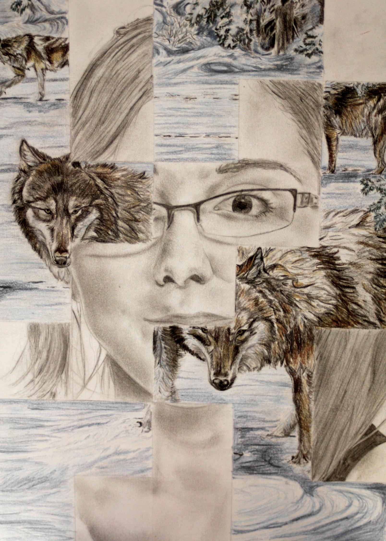 The smARTteacher Resource: Portrait Weave Drawing