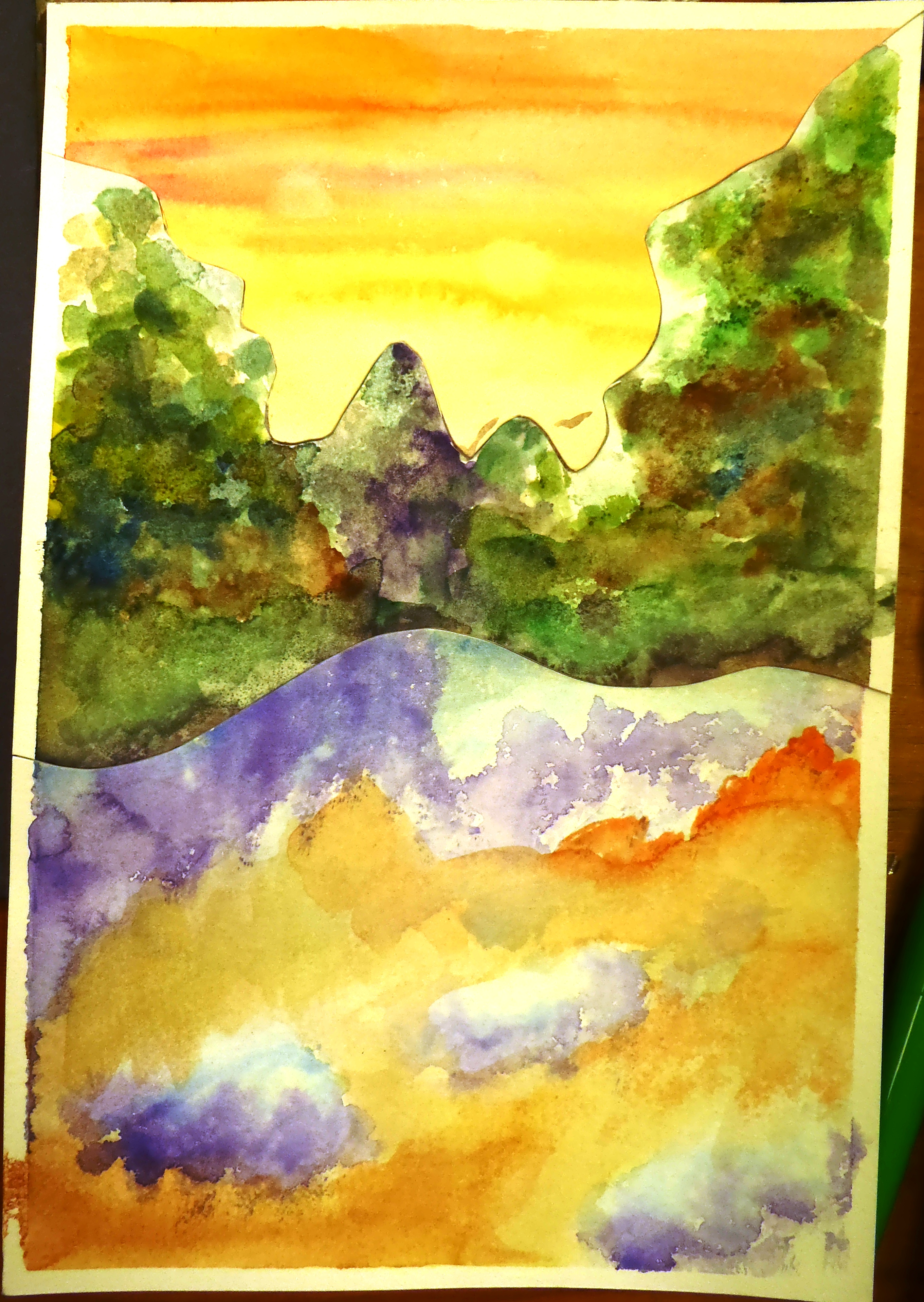 the smartteacher resource  abstract watercolour landscapes