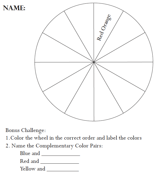 The Smartteacher Resource Color Wheel Assessment