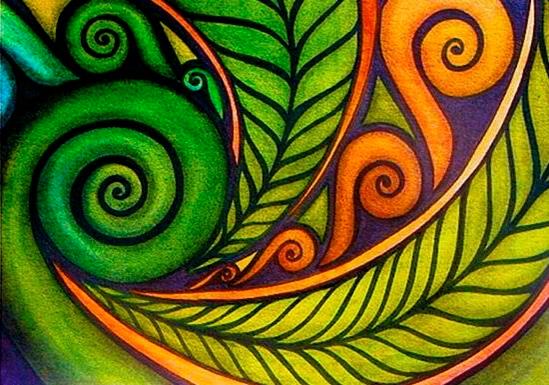 maori koru nz zealand patterns designs fern paintings lesson oil harris raewyn artists tattoo polynesian symbols resource pattern painting artist