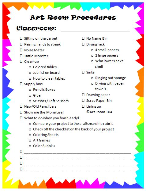 Elementary Classroom Procedures : Art classroom procedures resources pinterest