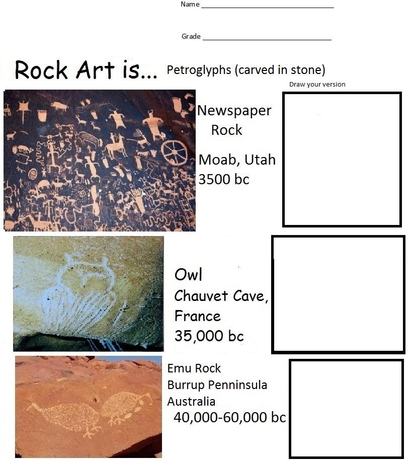 The smARTteacher Resource: Cave Art is...Rock Art Is...