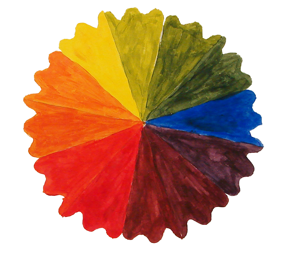 Using The Attached Pie Slice Students Create Any Design And Repeat It To A 12 Step Color Wheel Then You Teach Them How Mix Colors