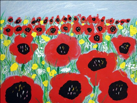 The smARTteacher Resource 2nd Grade Poppies in Perspective – Second Grade Art Lesson Plans
