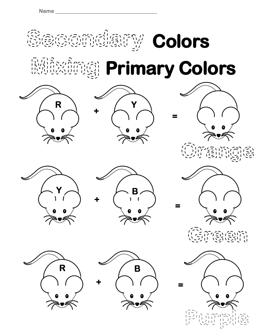 the smartteacher resource secondary colors worksheet. Black Bedroom Furniture Sets. Home Design Ideas