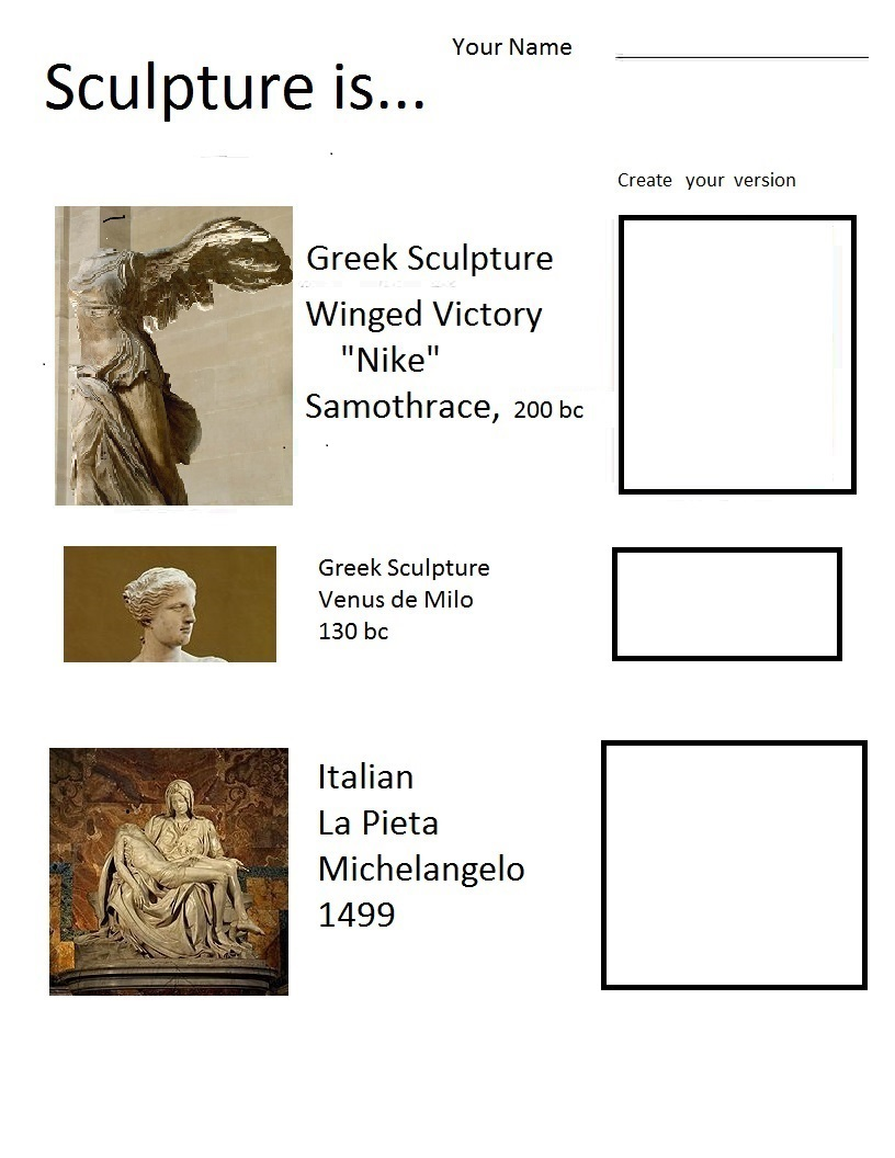 Sculpture Vocabulary Worksheet : The smartteacher resource sculpture is