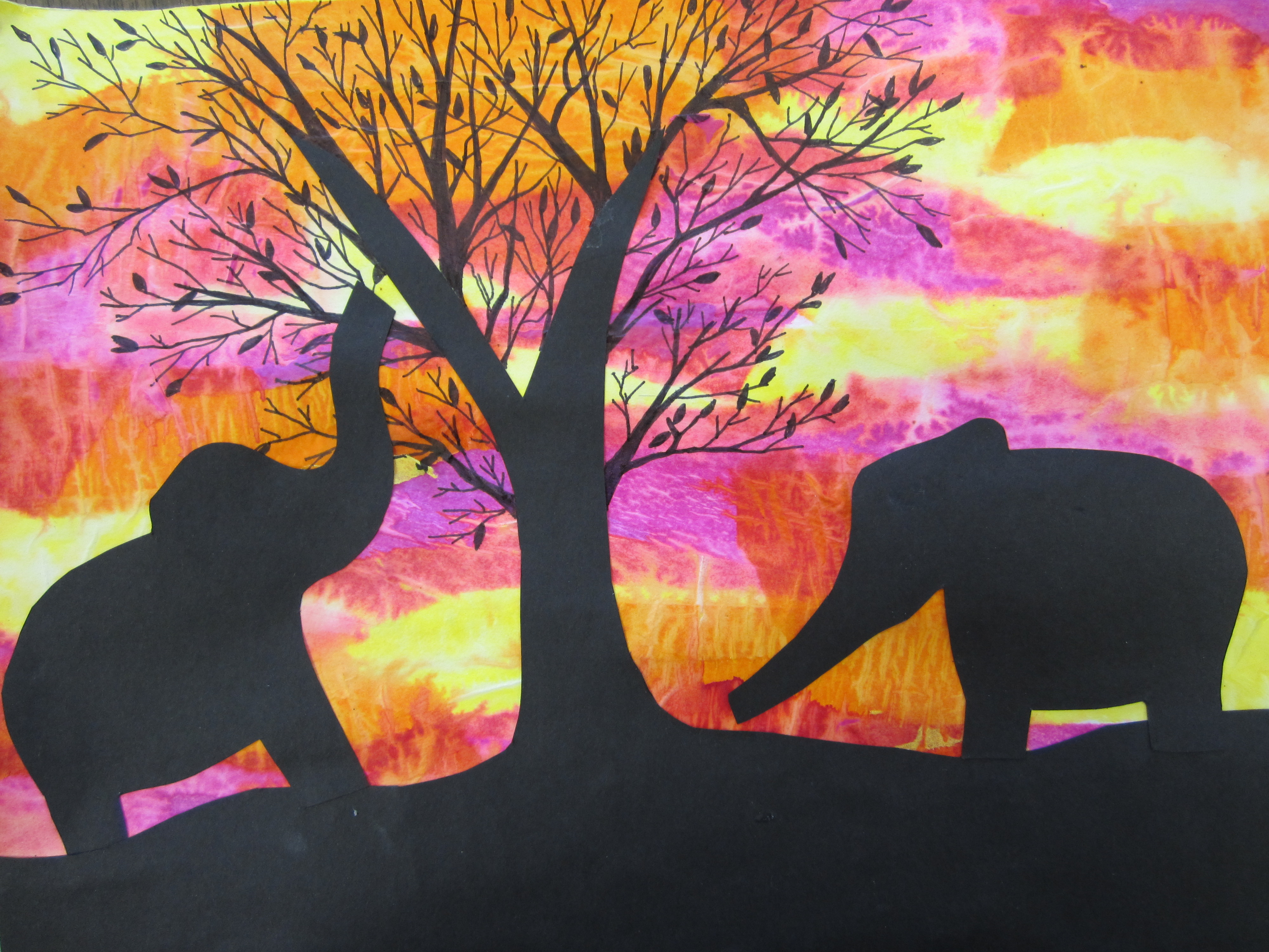 The SmARTteacher Resource Sunset Silhouettes