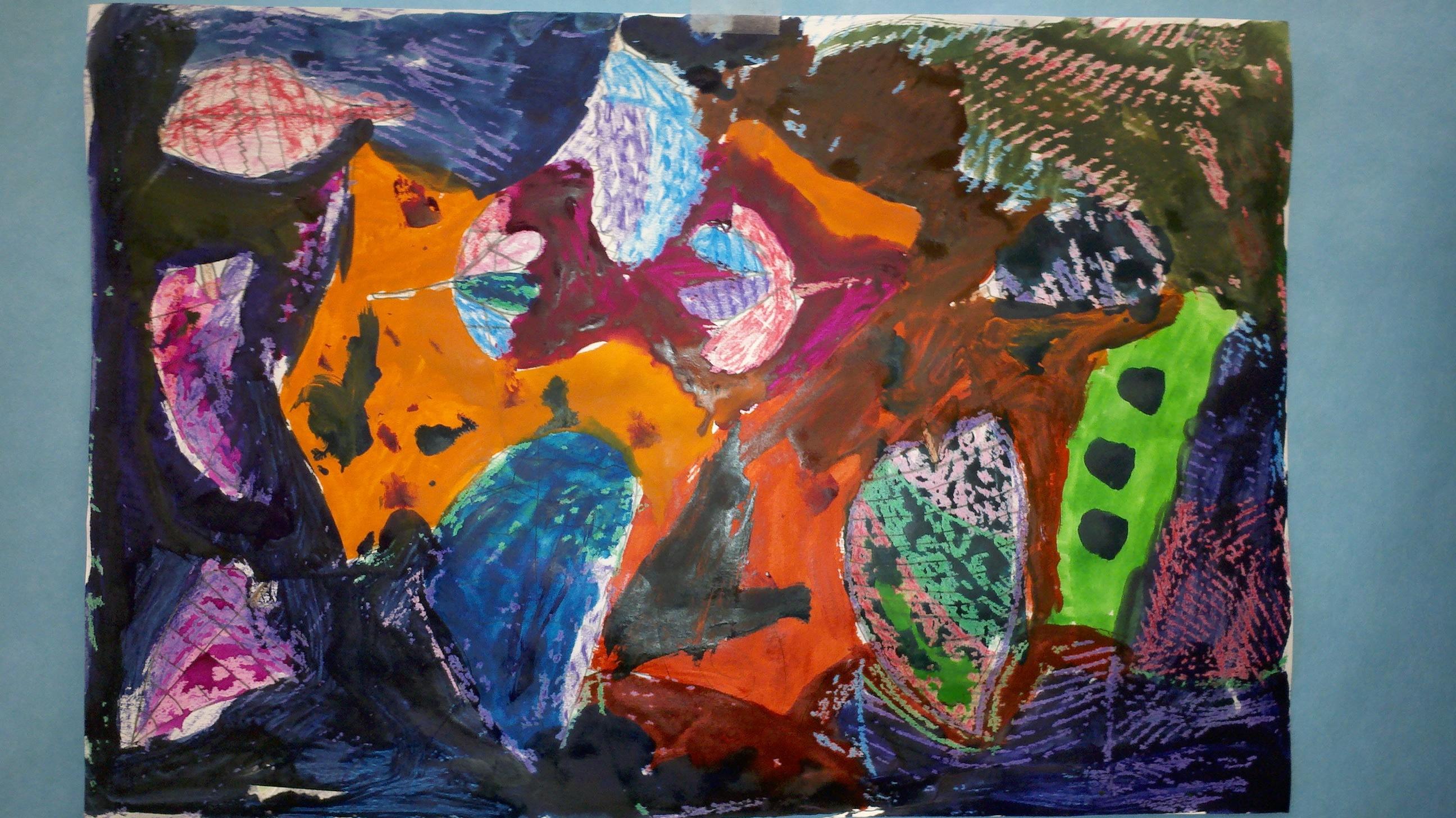 The Smartteacher Resource  Watercolor Texture Crayon Resist
