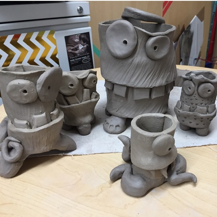 The smARTteacher Resource: Clay Monster Planters