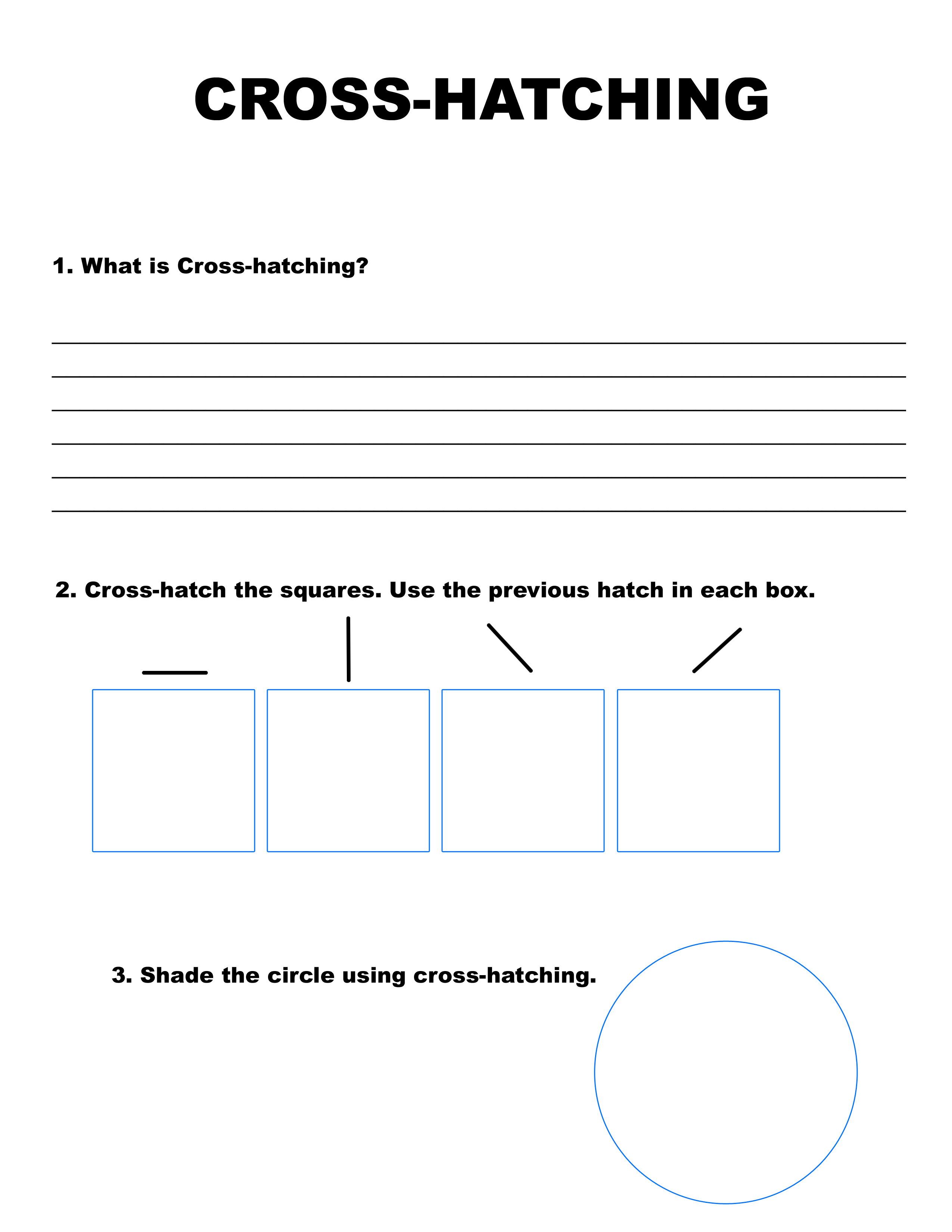 Cross Hatching Worksheet Abitlikethis