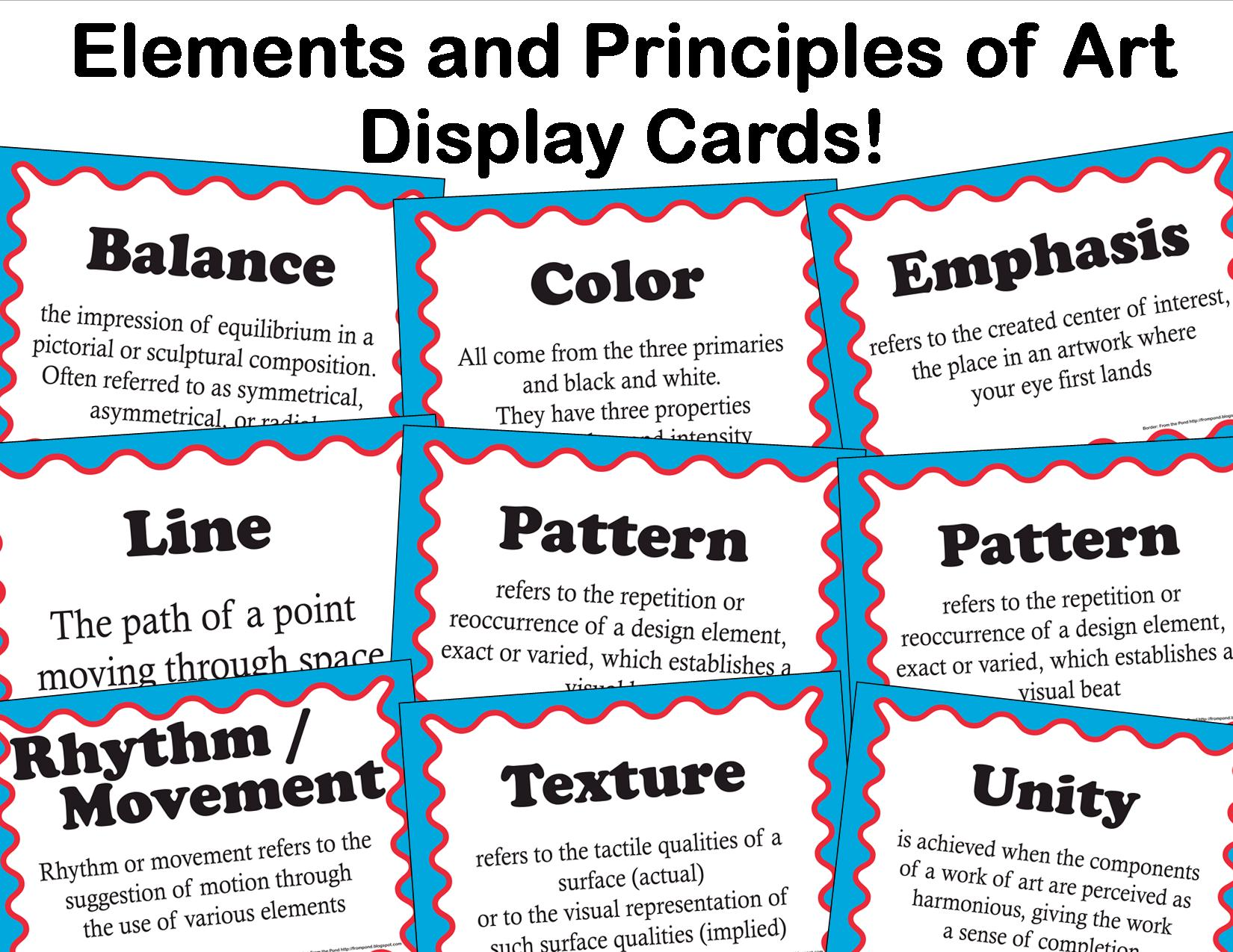 7 Elements Of Visual Arts : The smartteacher resource elements and principles of art