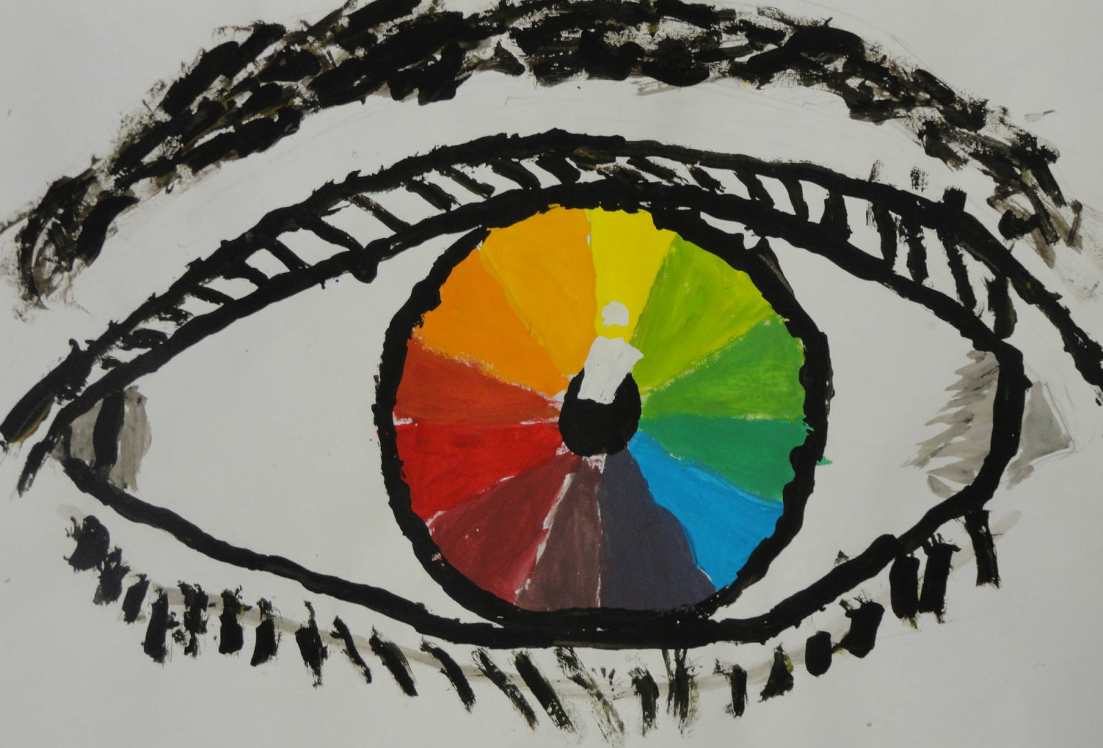 A Color Project Combining Art Science And Even Math Instead Of Creating The Boring Wheel Students Learn About Parts Eye As They