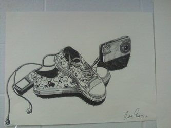 Contour Line Drawing Of A Shoe : The smartteacher resource: contour line shoes