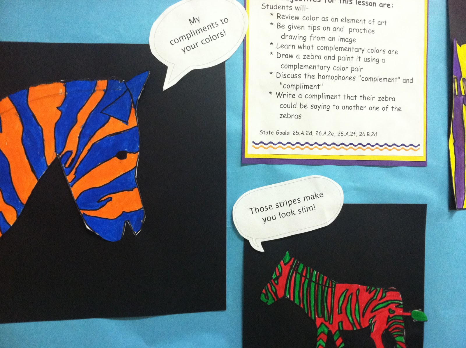 Line Art Lessons For Elementary : The smartteacher resource complementary zebras a th grade