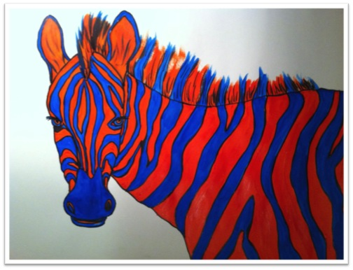 This PowerPoint Takes Students Through The Steps In Creating A Zebra That Is Painted Complementary Colors